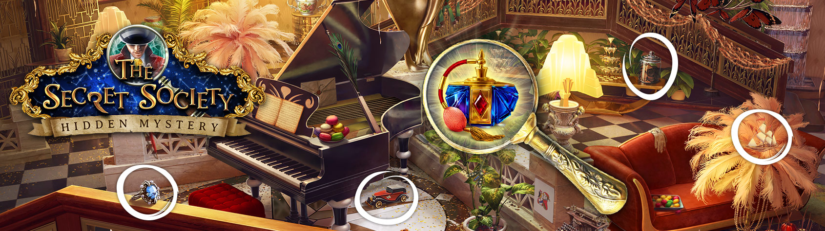 The Secret Society - Find objects and solve puzzles
