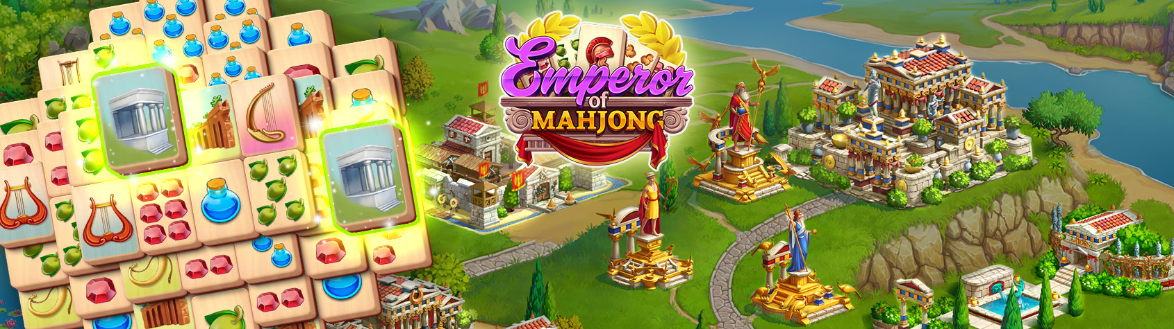 Emperor of Mahjong: Match tiles & restore a city