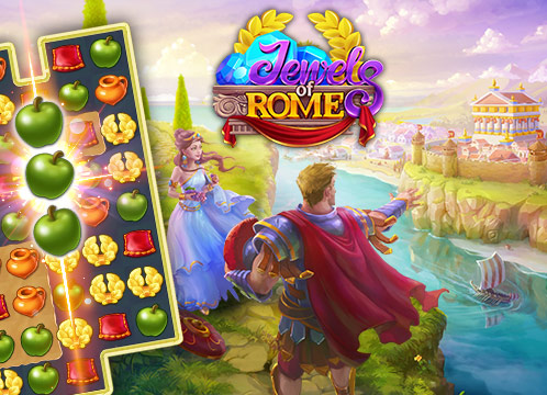 Jewels of Rome™: Match gems to restore the city