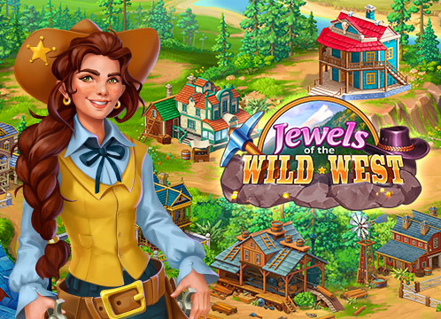 Jewels of the Wild West: Match gems & restore the town