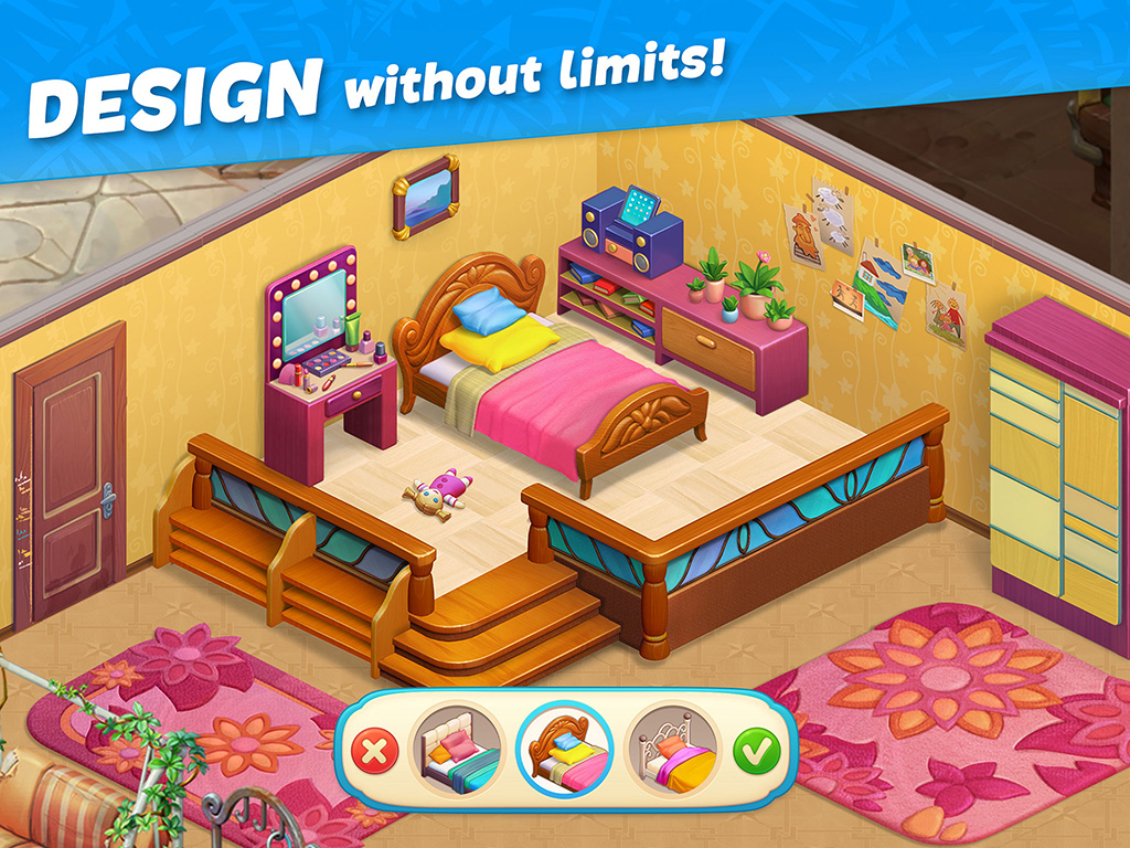 Hawaii Match-3 Mania: Home Design & Matching Puzzle
