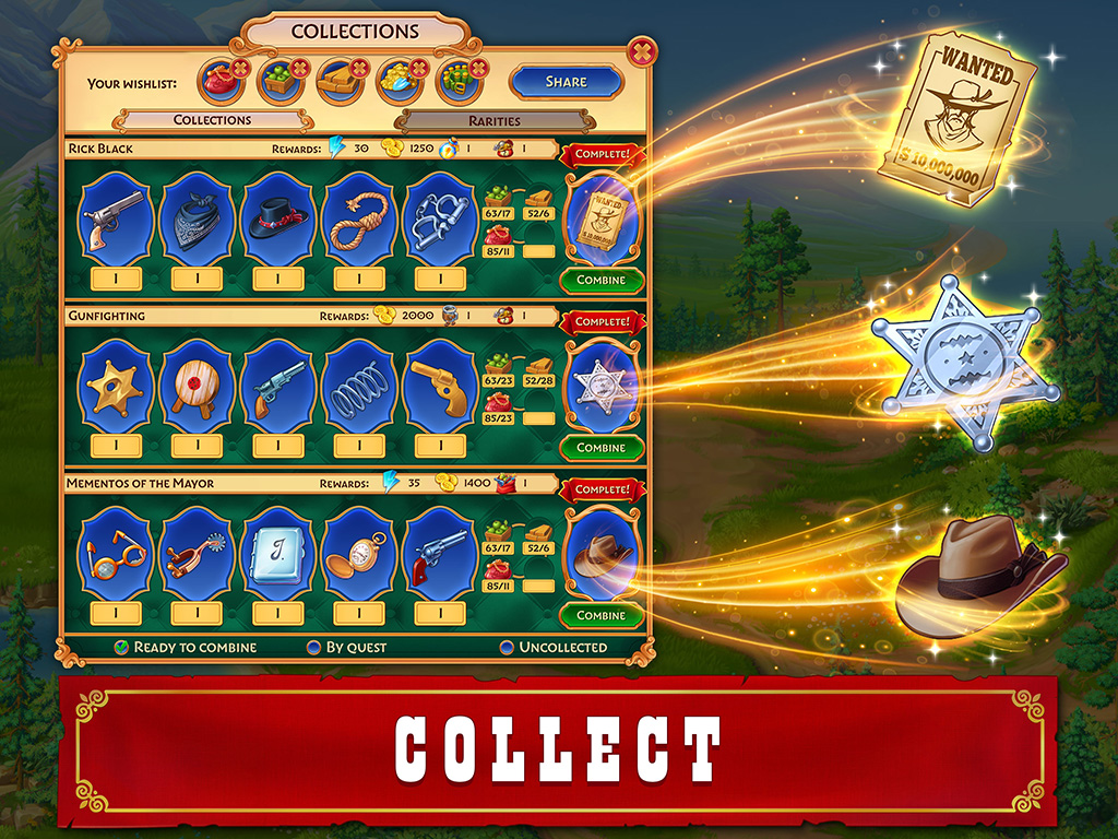 Jewels of the Wild West: Match 3 Puzzle & City Building Game!