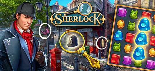 Sherlock: Hidden Match 3 Cases