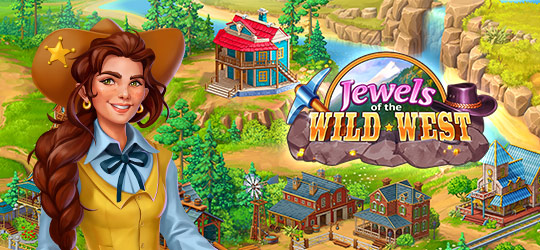 Jewels of the Wild West: Merge Gems and Build a City