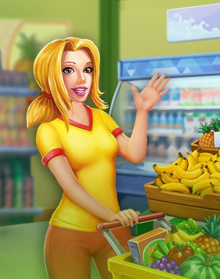 Supermarket Mania - 3 Gewinnt: Einkaufsabenteuer-Wahnsinn