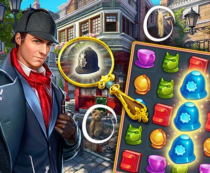 Sherlock: Hidden Objects Game and Mystery Match 3 Cases